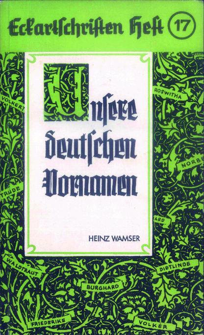 17: Unsere deutschen Vornamen