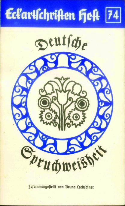 74: Deutsche Spruchweisheit